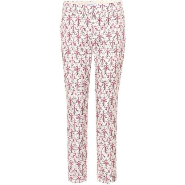 Printed Twill Skinny Pants - Blue Prada V1OoE