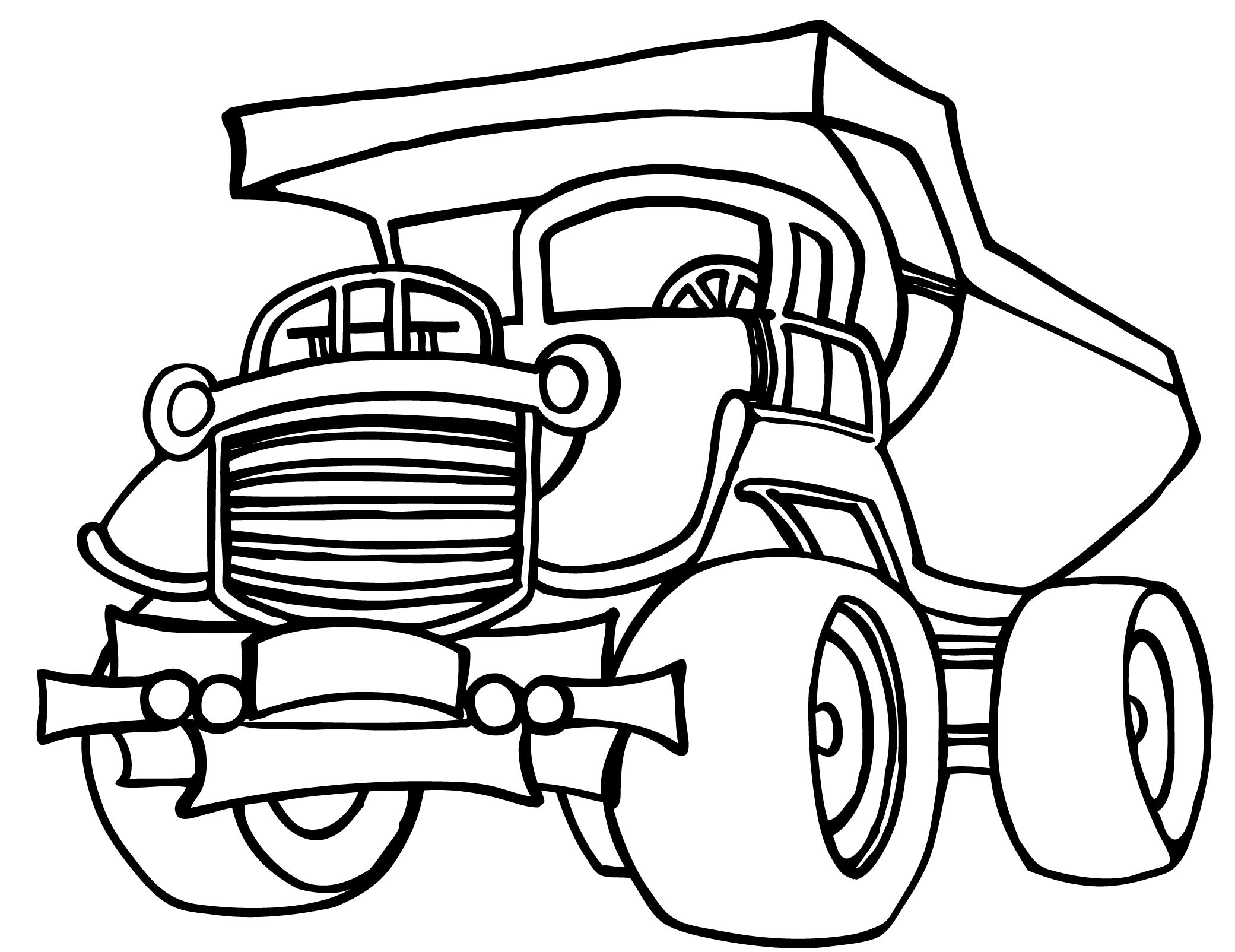 Garbage truck coloring book - Kids Always Adore Different Shapes Patterns If You Want To Help Nurture Their Artistic Abilities Give These Fun Free Printable Dump Truck Coloring Pages