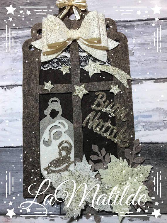 Photo of Articoli simili a Targa fuoriporta natalizia, decorazione in feltro e pannolenci. Idea regalo, addobbi, decorazioni su Etsy