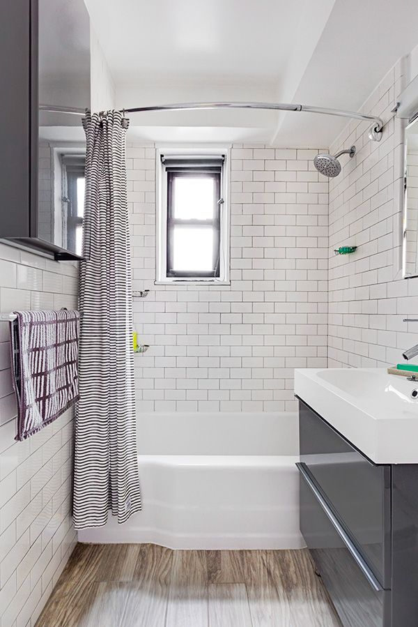 Rima 39 s ikea kitchen and bathroom renovation sweetened white subway tiles grey bathroom - Ikea bathroom tiles ...