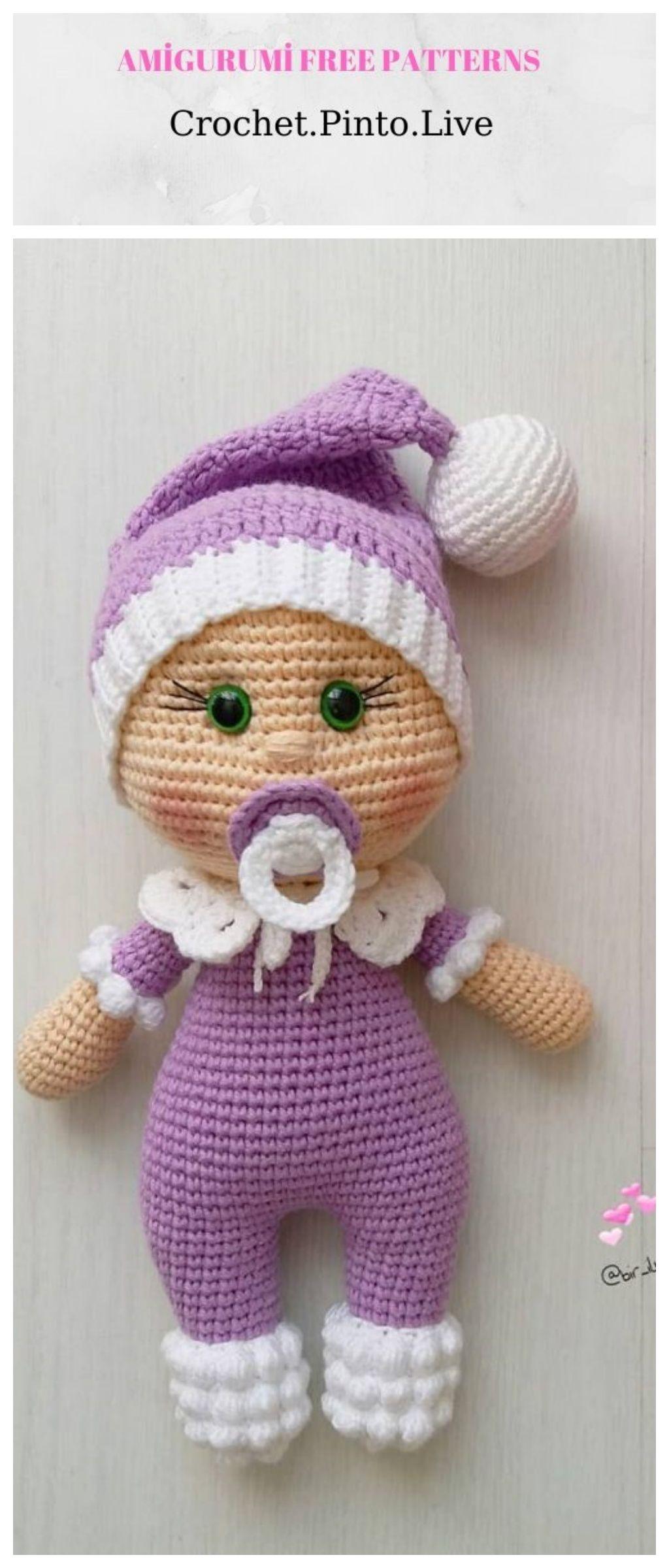 Amigurumi Cute Doll Free Crochet Pattern em 2020 | Boneca ... | 2400x1024