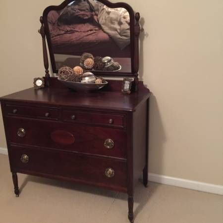 Selling Beautiful antique dresser with mirror $250 will have to pick up. #pinbayus #northcarolina #antique #selling