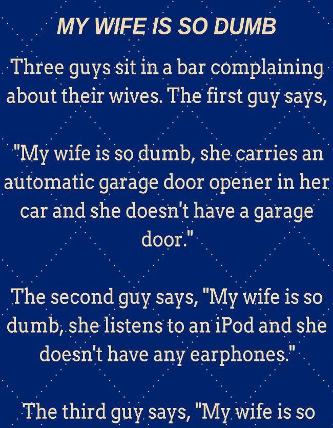 A Man Has Dumb Wife... USZINE Golfhumor in 2020 Wife