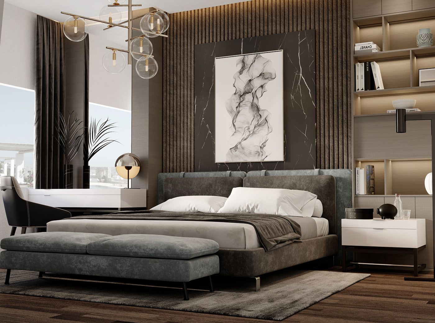 Luxury Bedroom Design In Jeddah On Behance Luxurious Bedrooms Modern Luxury Bedroom Country Bedroom Design Minimalist luxury bedroom photo