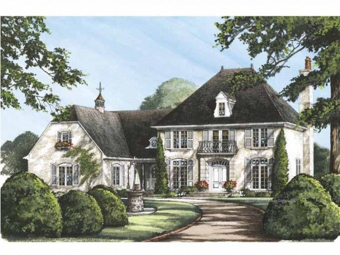 European Style House Plan 4 Beds 3 Baths 3408 Sq Ft Plan 137 117 French Country House Plans French Country House Country House Plans