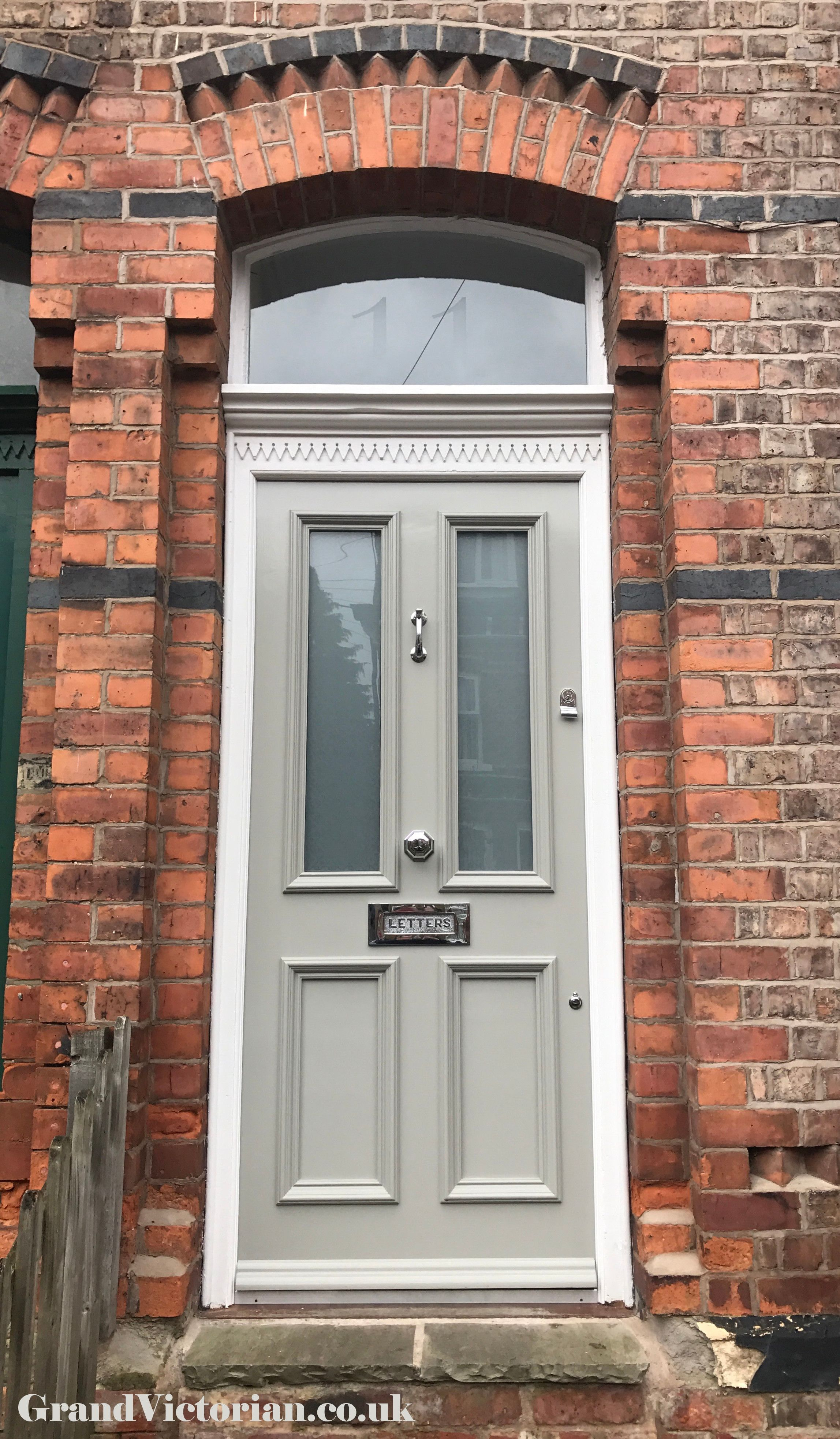 Grand Victorian Front Door With Canterbury Glass In Chorlton Gv11m219fb
