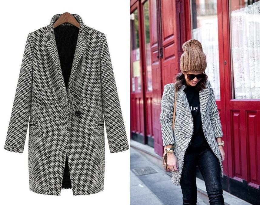 Klasyczny Elegancki Welniany Plaszcz W Pepitke 38 5682384265 Oficjalne Archiwum Allegro Coat Fashion Duster Coat