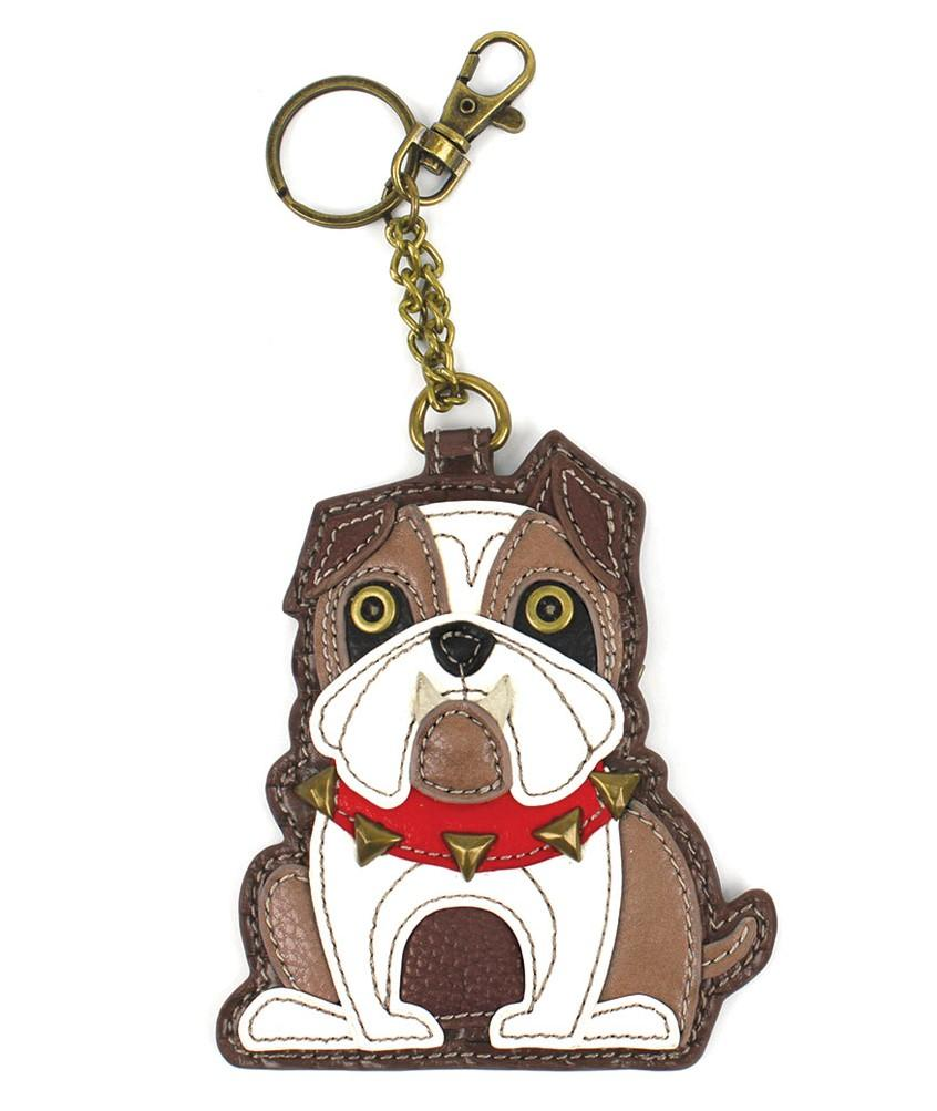 Chala Golden Retriever Dog Key Chain Charm FOB Ring Faux Leather Coin Purse New