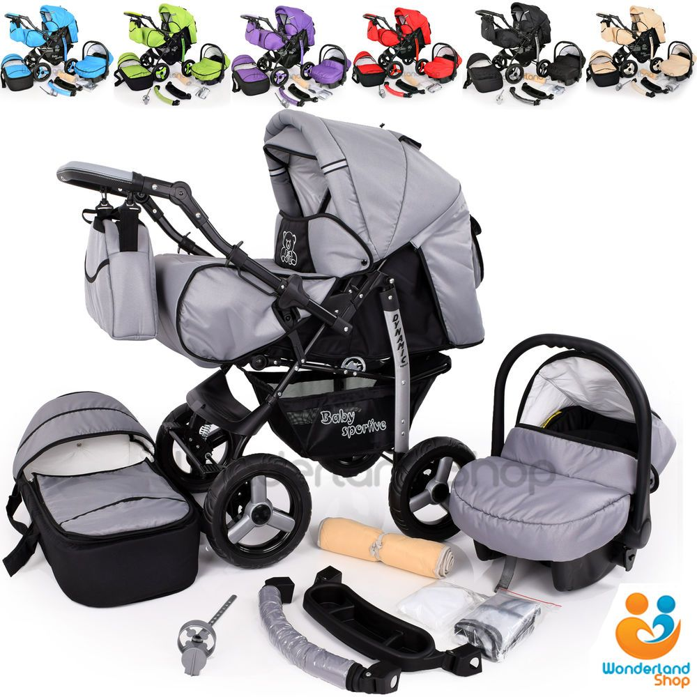 Baby Pram Stroller Pushchair + Car Seat Carrycot Buggy Travel System Details About Baby Pram Stroller Pushchair Car Seat Carrycot