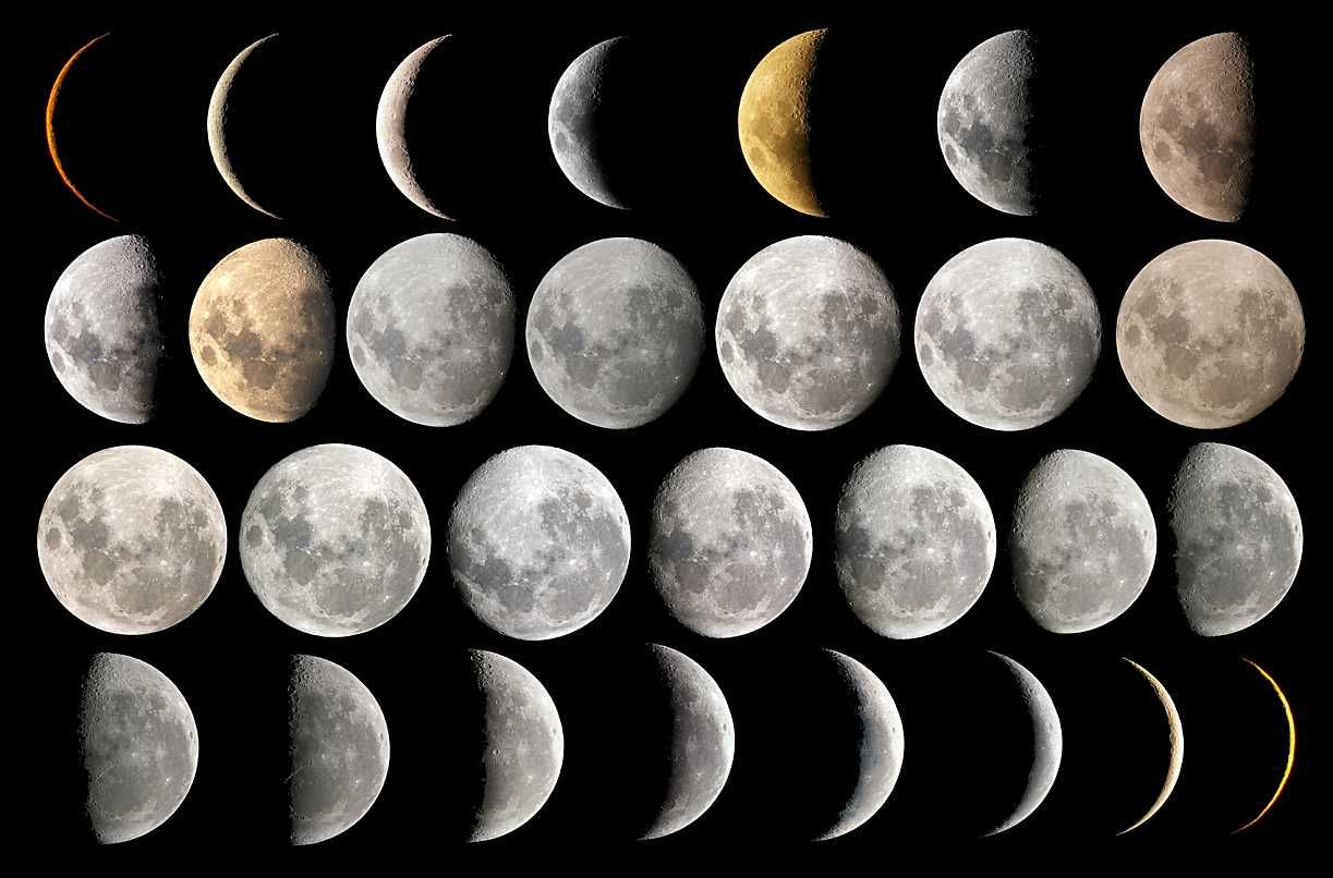 11 Simple Rituals for the End of the Month.  Lunar hair chart
