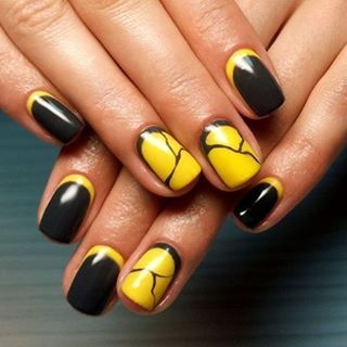 that shade of yellow goes well with black  yellow nails