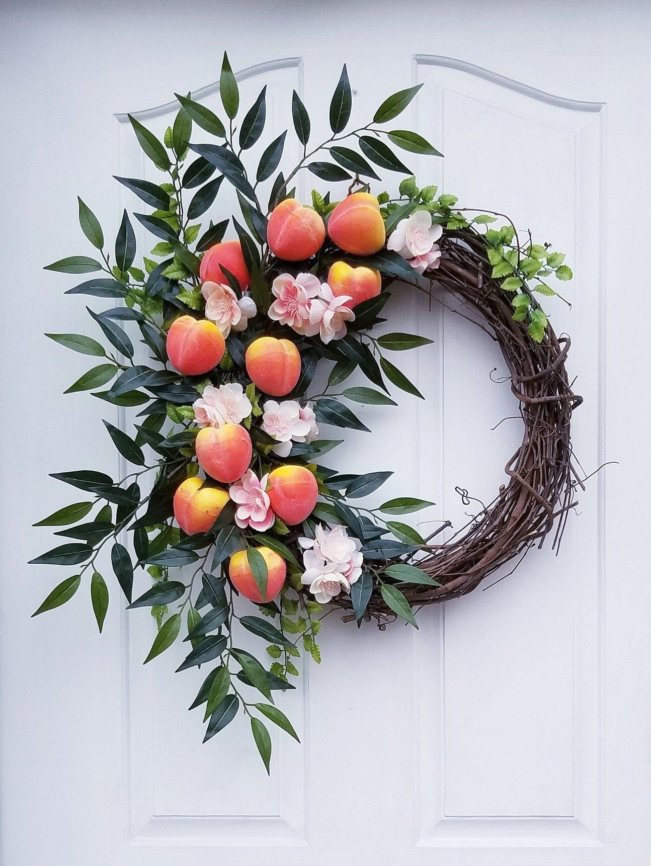 house warming farmhouse decor spring wreath Apple wreath grapevine wreath summer wreath farmhouse wreath fruit wreath apple decor