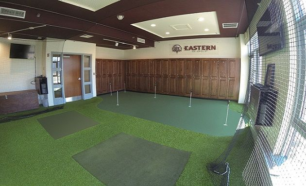 Indoor golf facility at eastern university golf rooms for Indoor facility design