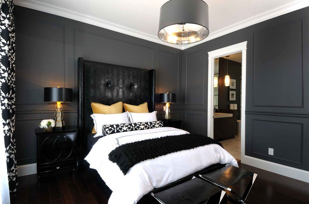 Best Charcoal Bedroom Bedroom Contemporary With Black Lamp 640 x 480