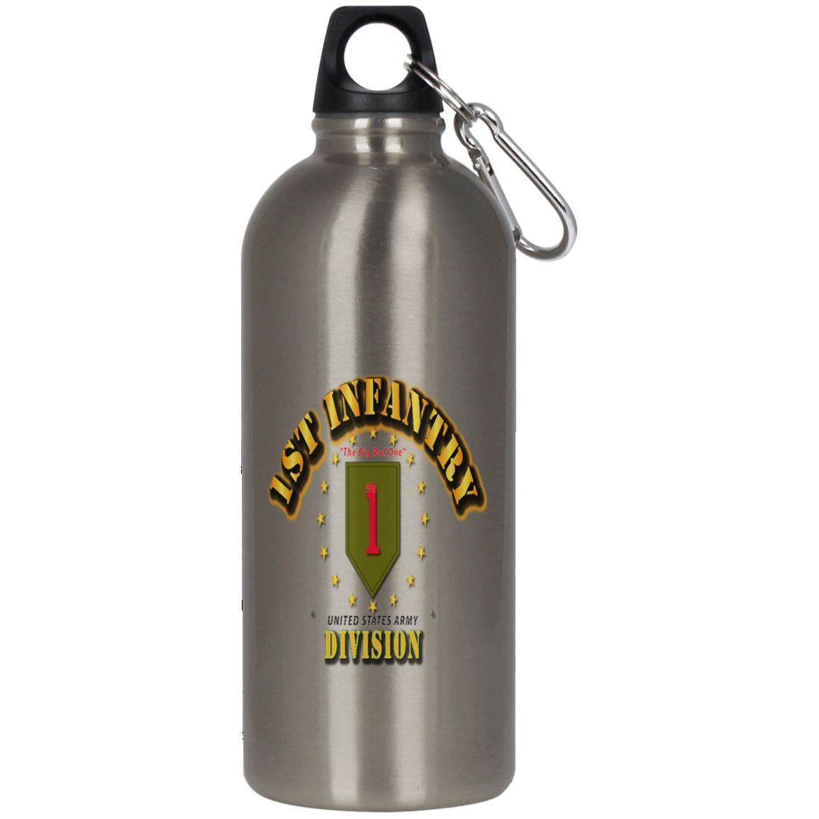 1ST INFANTRY DIVISION BIG RED ONE BY TWIX123844 23624 Stainless Steel Silver Water Bottle