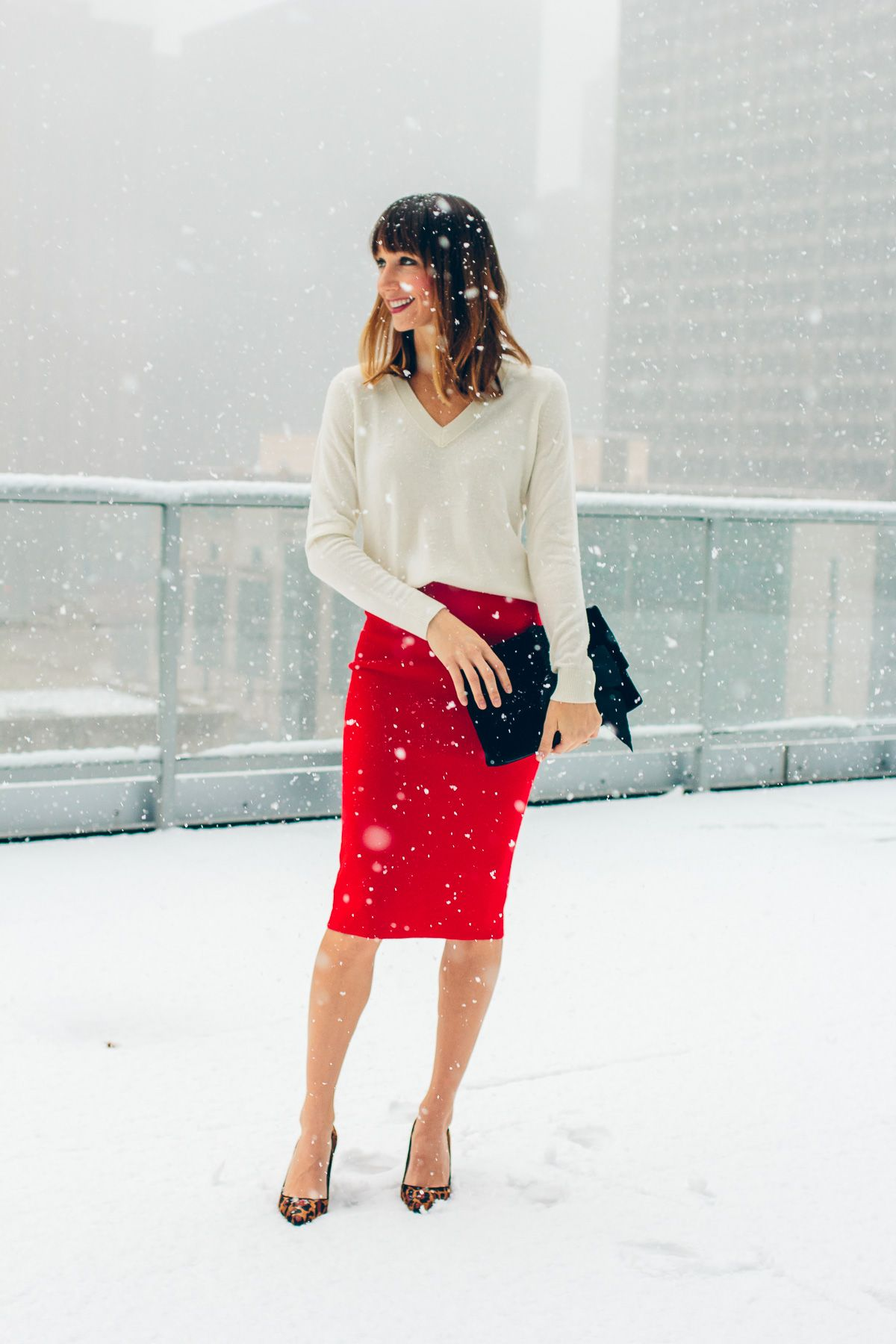 red white holiday look