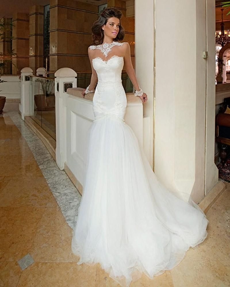 Backless lace mermaid style wedding dress wedding dress backless lace mermaid style wedding dress junglespirit Images