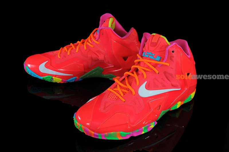 4b9944e10b3 Fruity Pebbles LeBron James Shoes  SALebron11RedMulti621712600563519138629386912801280