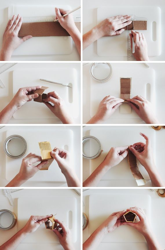 diy gold geo napkin rings Diy gold