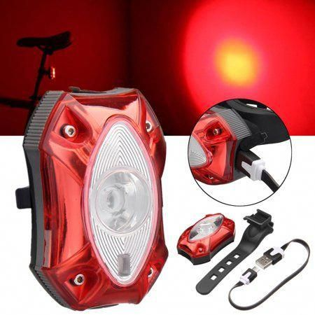 Rechargeable Mountain Bike MTB Bicycle Red LED Rear Tail Light Cycling Lamp USB