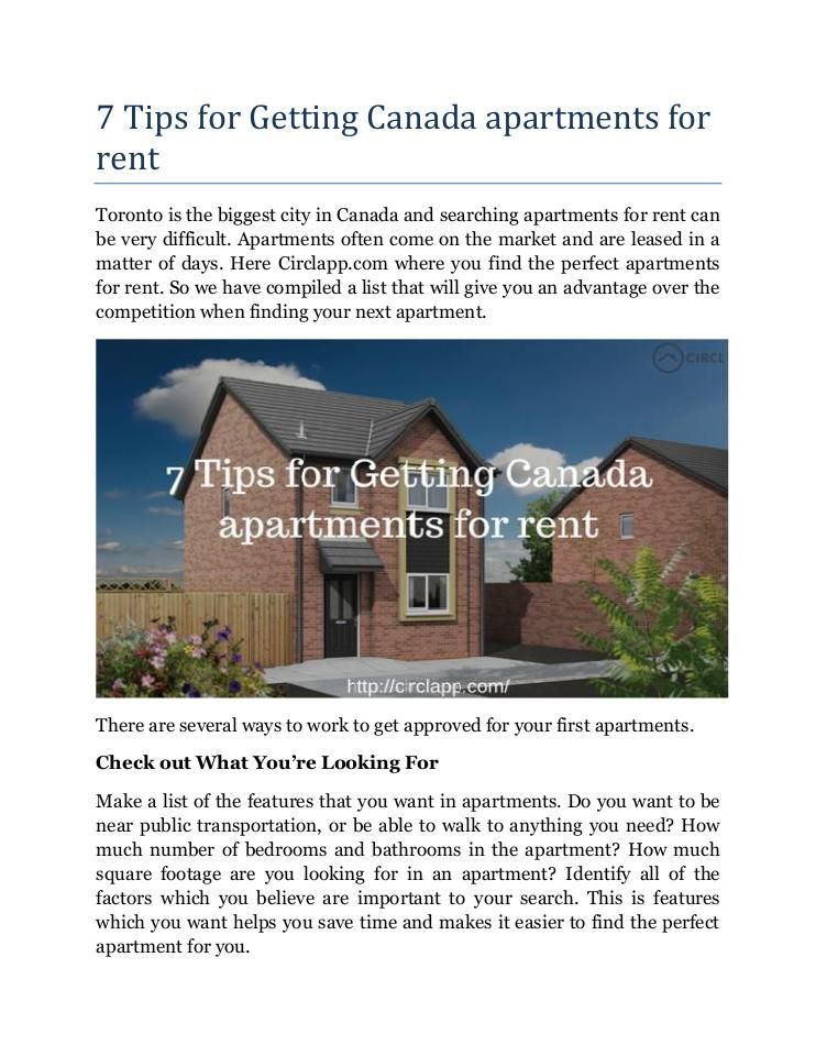 Marvelous Circlapp.com Now Has High Quality Rentals Website For Canada Apartments For  Rent To Their