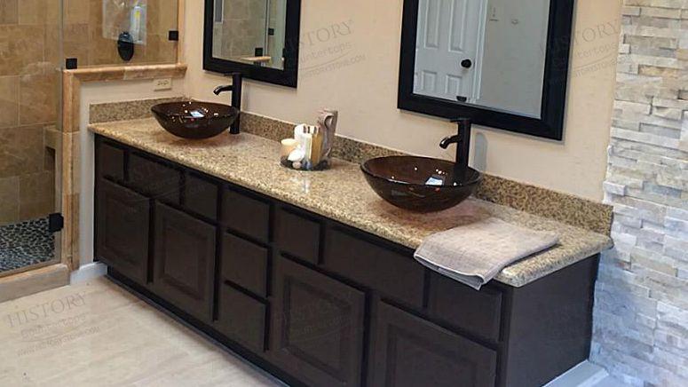 Best China Tiger Skin Yellow Granite Bathroom Countertops