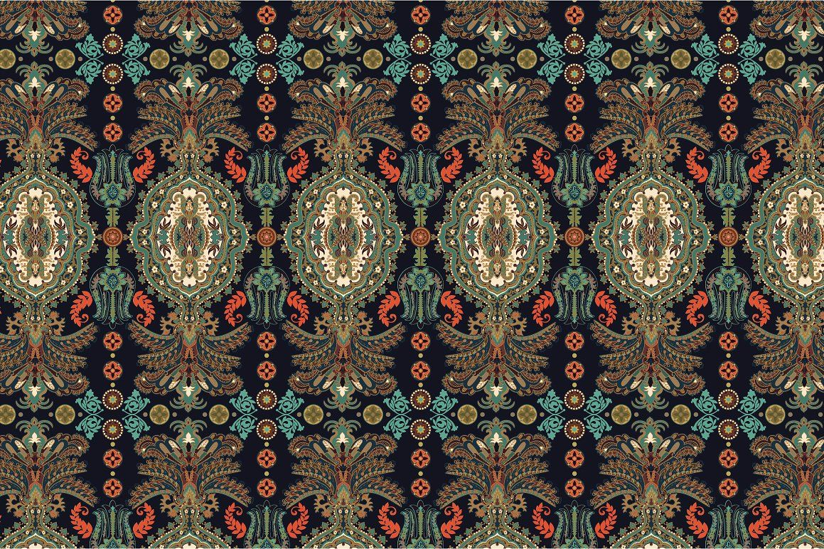 5 Ethnic Ornamental Patterns ZIPPaisleyfileEPS