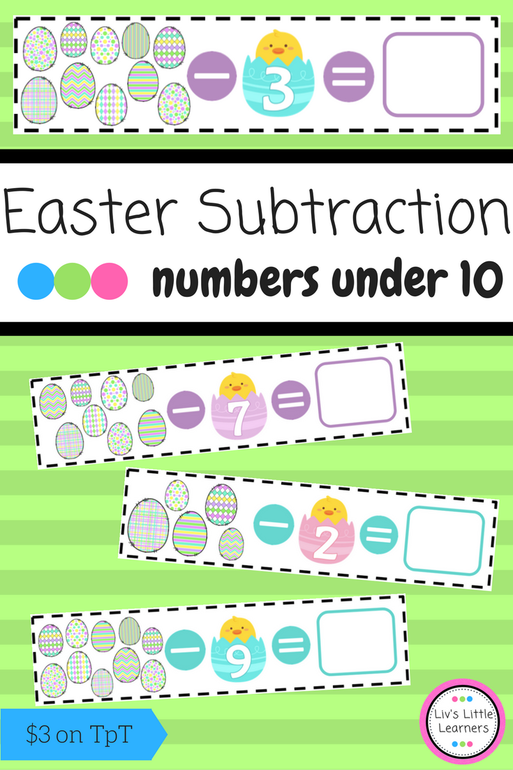 Easter Subtraction | Math numbers, Early childhood and Math