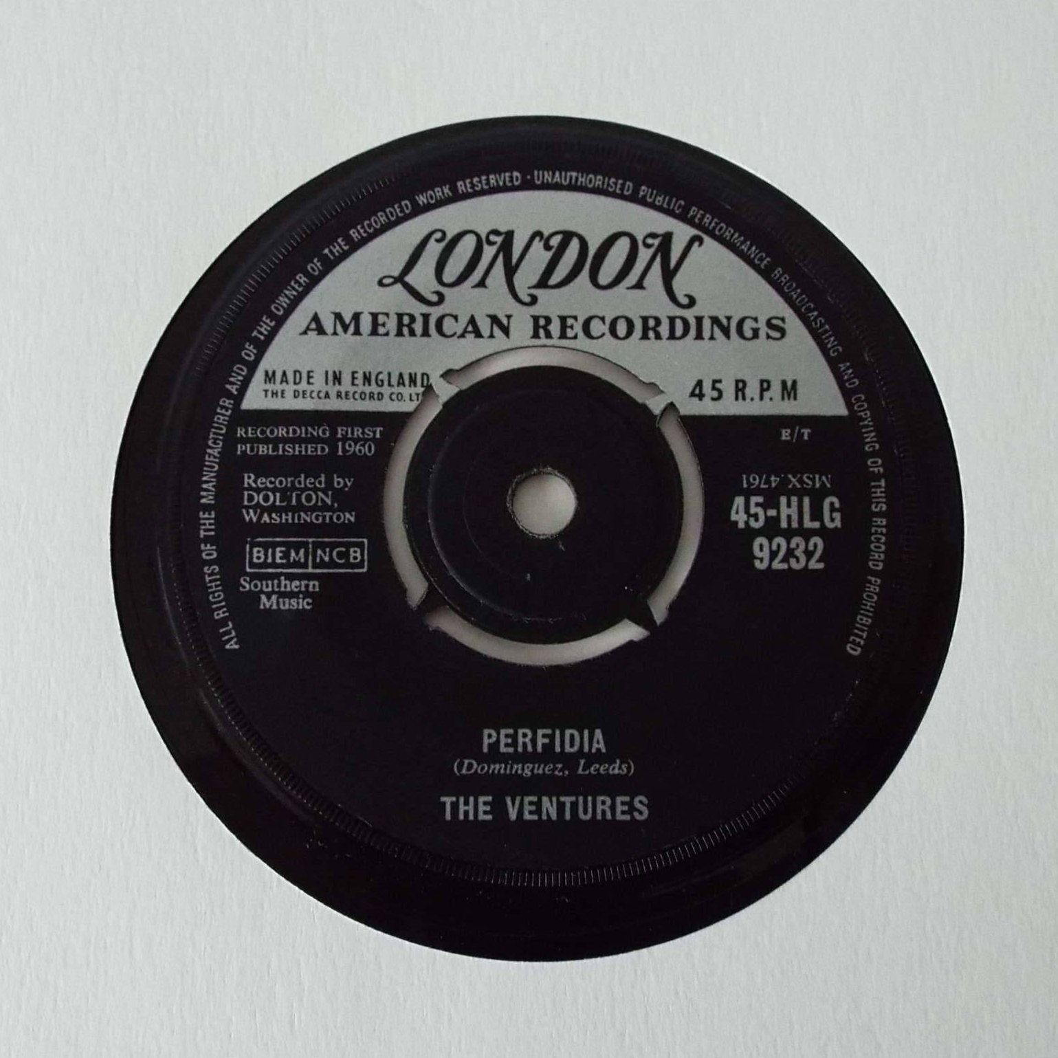 Vintage 1960 The Ventures Perfidia No Trespassing 7