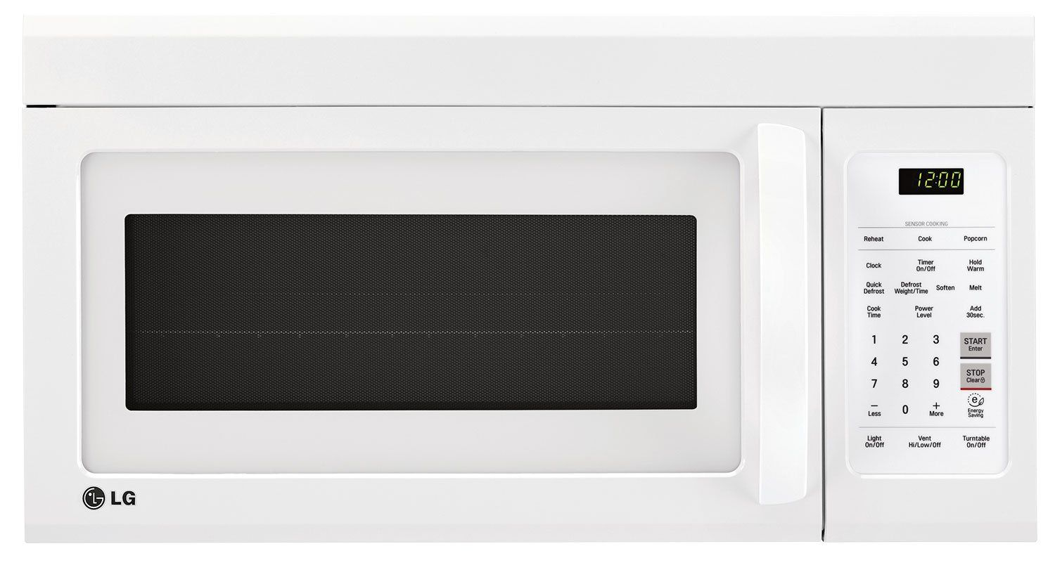 Lg Appliances White Over The Range Microwave 1 8 Cu Ft Lmv1852sw Range Microwave White Appliances Lg Appliances