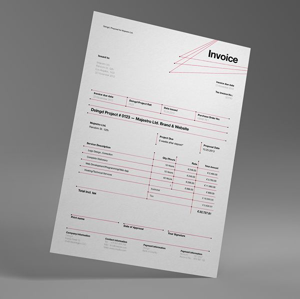 Dsignd Proposal Swiss Design with Invoice on Behance invoice - invoice designs