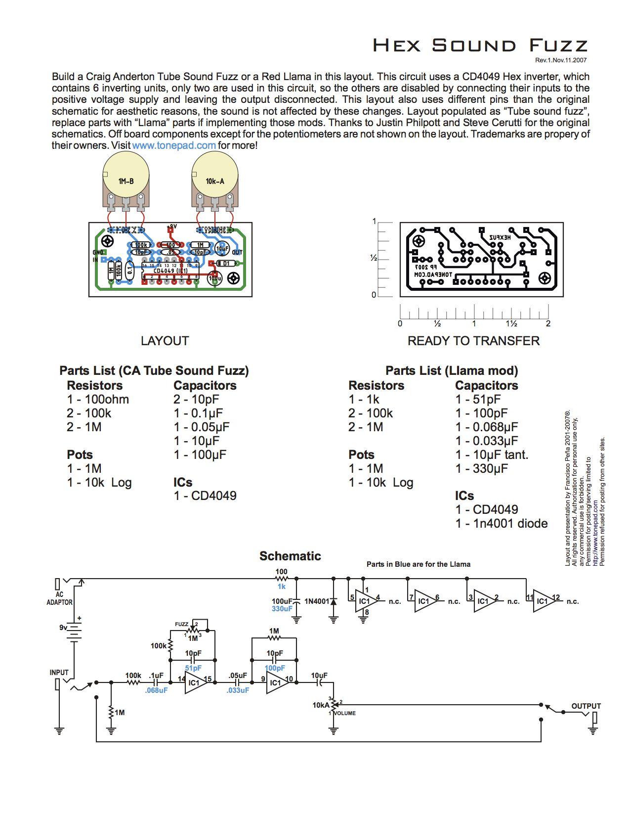 Red Llama Distortion PCB DIY Guitar Effects