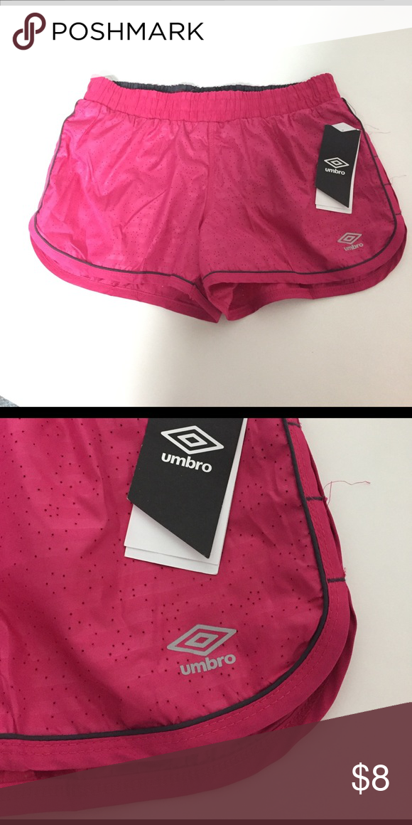 Girls Umbro Athletic Shorts Brand new with tags. Super cute pink In color. Has interior lining Umbro Bottoms Shorts