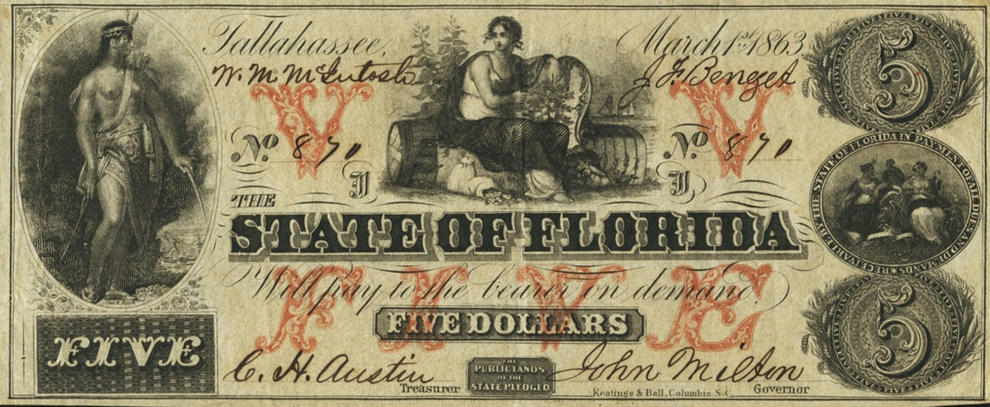 Pin By Richard Wald On Obsolete Currency From Florida In
