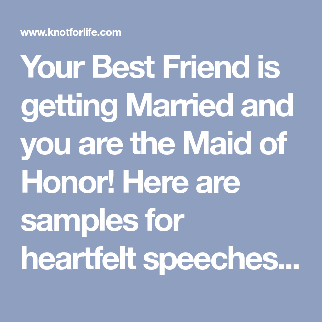 Examples Of Wedding Speeches For Your Best