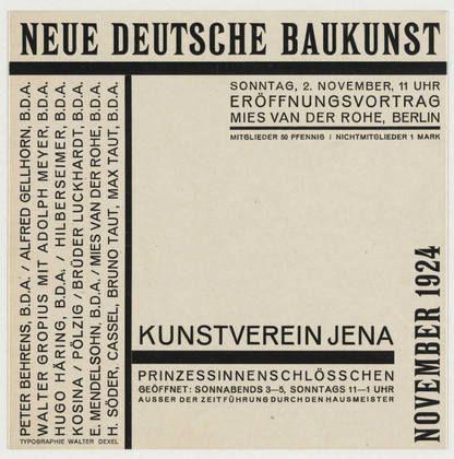 Walter Dexel. Neue deutsche Baukunst, Kunstverein Jena