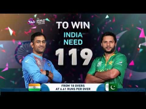 ICC World Cup T20 - India vs Pakistan Match Highlights ~ Live