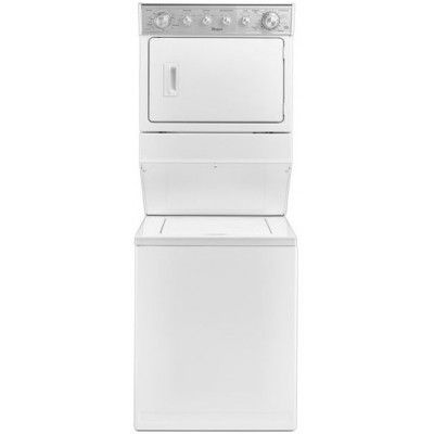 Whirlpool Wet4027ew 8 4 Cu Ft White Electric Washer Dryer Combo