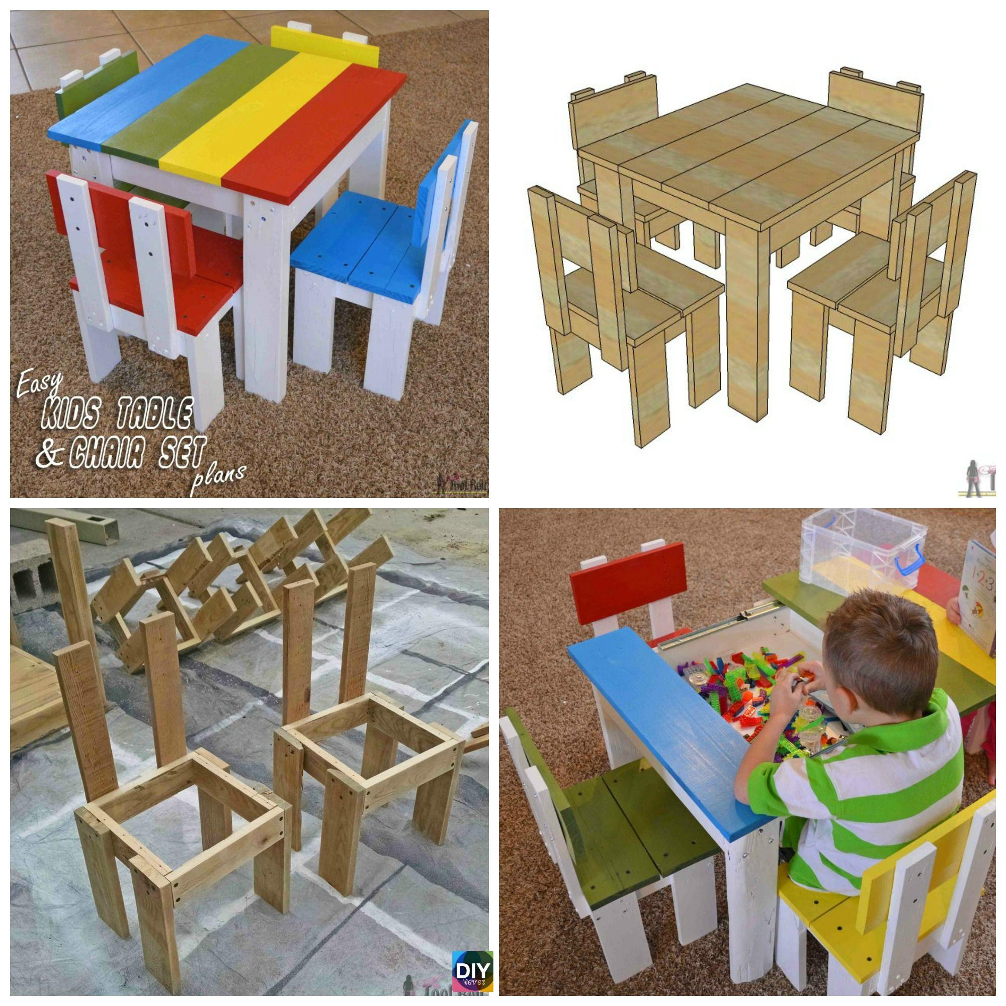 Simple Diy Kids Table Chair Set Tutorial Diy Homedecor