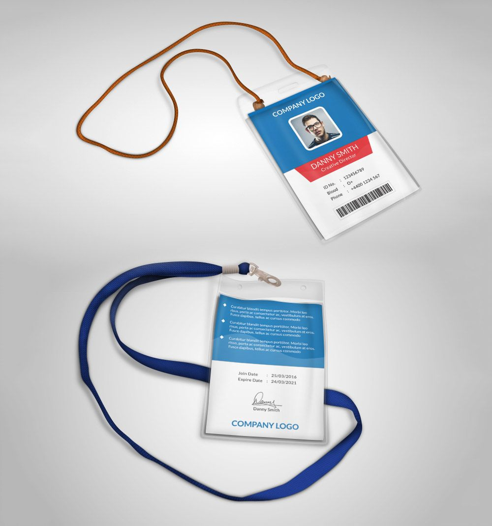 Awesome Multipurpose Company ID Card Free PSD Template
