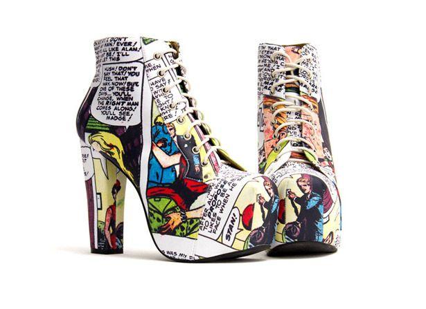 Comic shoes.