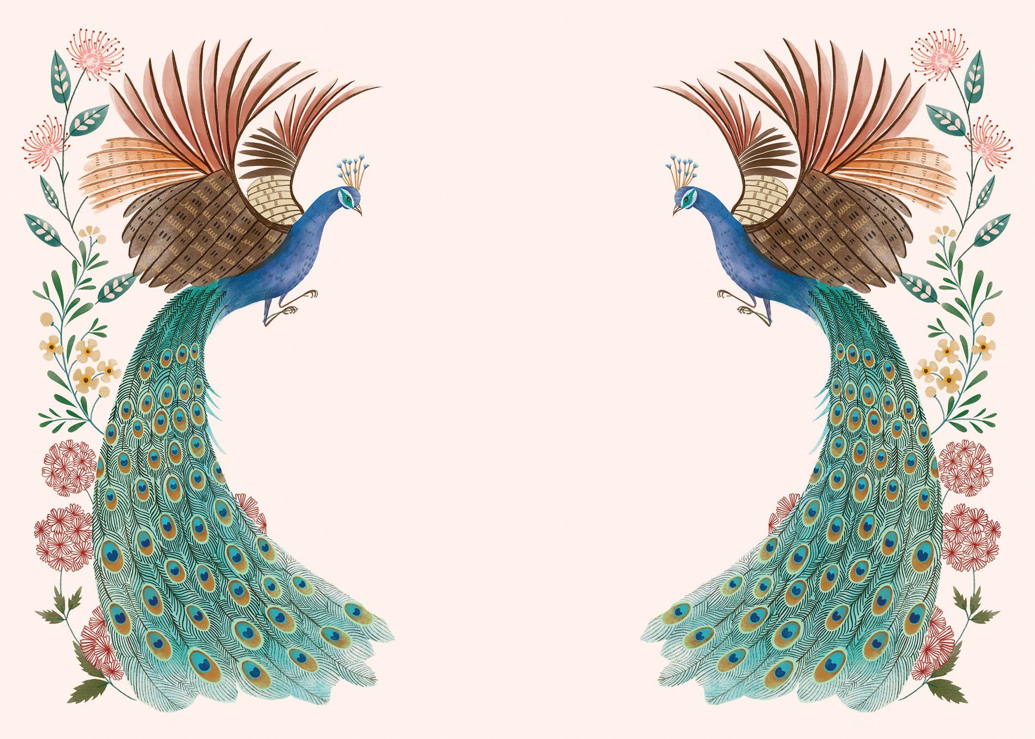 Peacocks Flowers Wedding Invitation Template Greetings Island Flower Wedding Invitation Digital Invitations Wedding Wedding Invitation Background