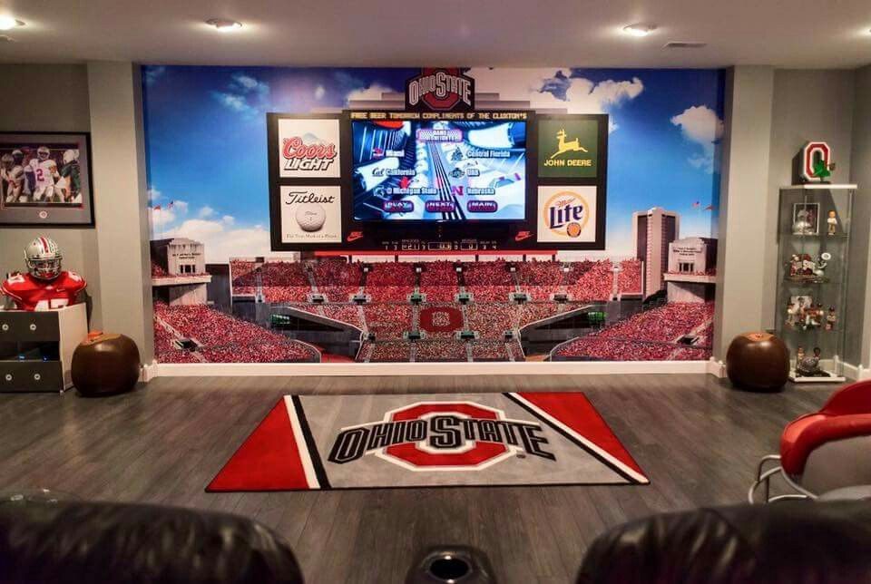 Pin By Malinda Levering On Decorating The House Sports Man Cave Man Cave Home Bar Man Cave Basement