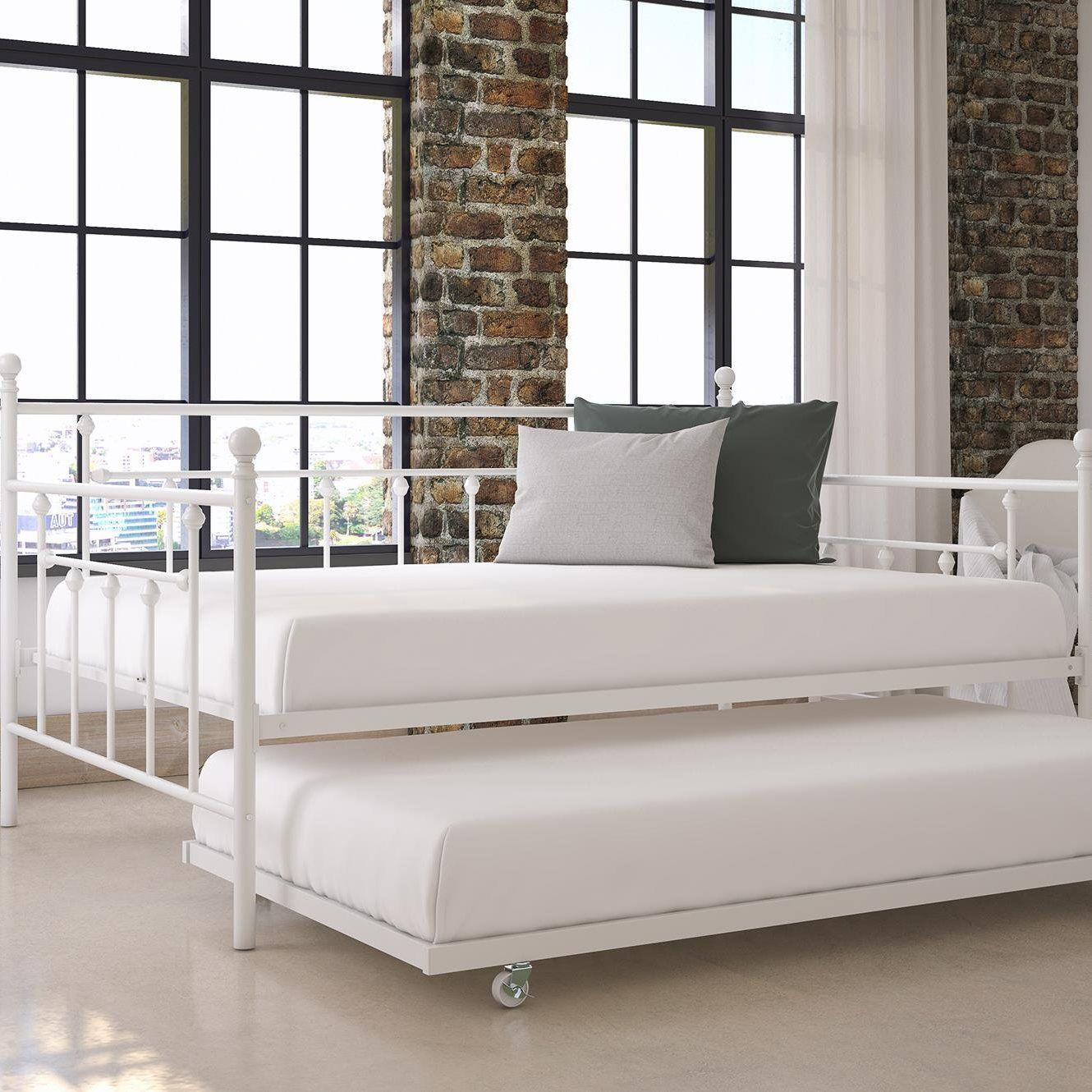 Amazon Com Home Mccarthy Metal Daybed With Trundle Full Size