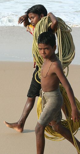 ♥ ⋱‿ ❤AnE LeeLA⋱SouL & HearT of LifE...Fisher Boys, Kovalam - Kerala, India.