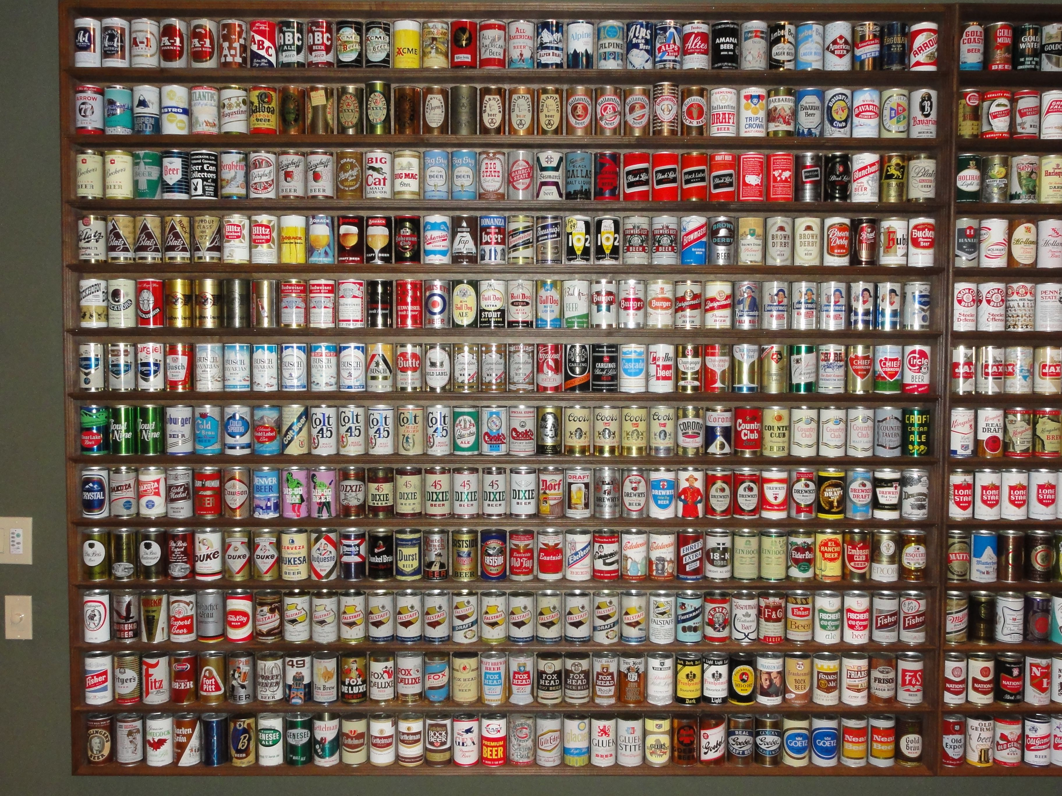 Old Beer Can Displays Google Search Man Cave Beer