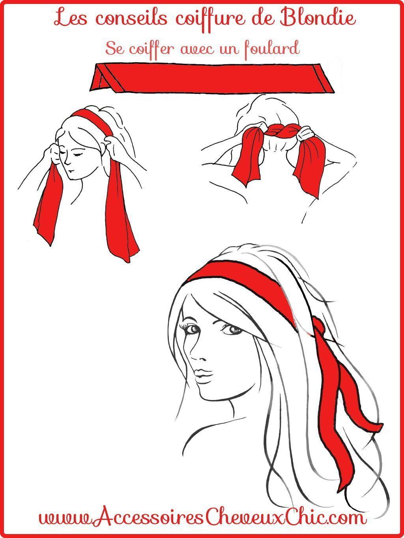 haar stijlen #haar #hair Comment porter, nouer, mettre foulard cheveux #headbandhairstyles Se Coiffer avec un foulard cheveux