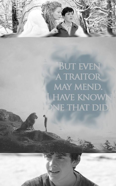 """""""But even a traitor may mend. I have known one that did.""""-Edmund Pevensie in The Horse and His Boy"""