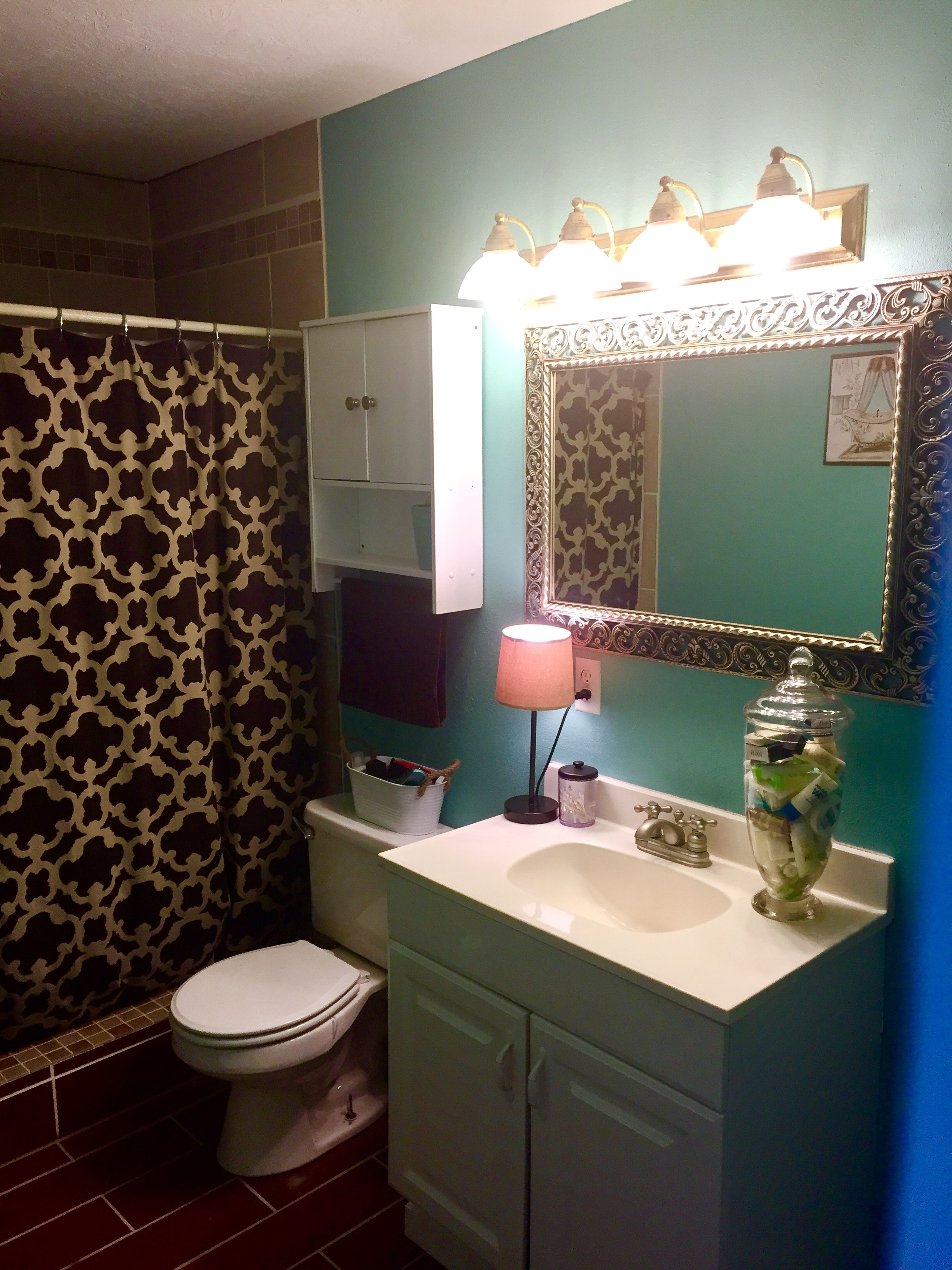 Bathroom Makeovers To Sell diy bathroom makeover. paint color: spa day (c+k) light fixture