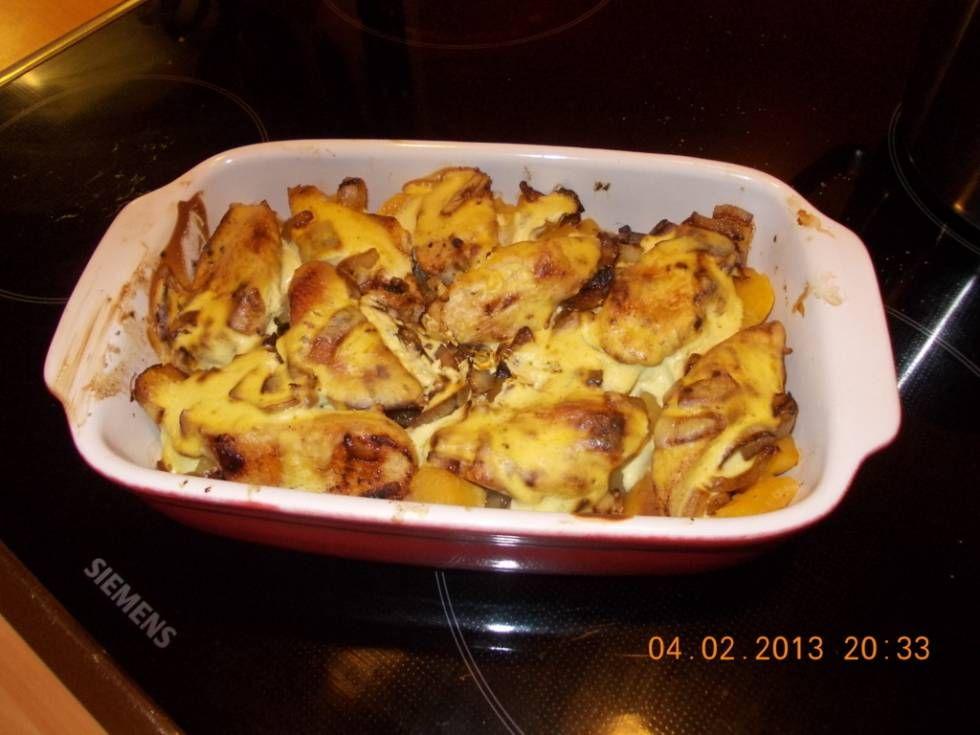 koolraap met kip en romige mosterdsaus uit de oven. recept   smulweb